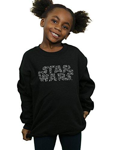 Negro Paisley con Sudadera Wars de Star logo Girl xSCqPaTf8