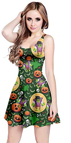 CowCow Womens Unique Halloween Costume Print Sexy Sleeveless Dress - 2XL