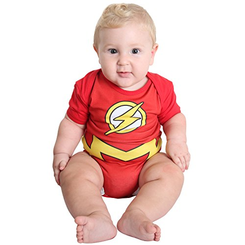 Fantasia Body Verão the Flash Bebê Infantil 11422-G Sulamericana Fantasias Vermelho/Amarelo G-9 Meses