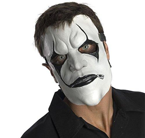 Slipknot James Mask, White/Black, One Size (Jim Root Mask)