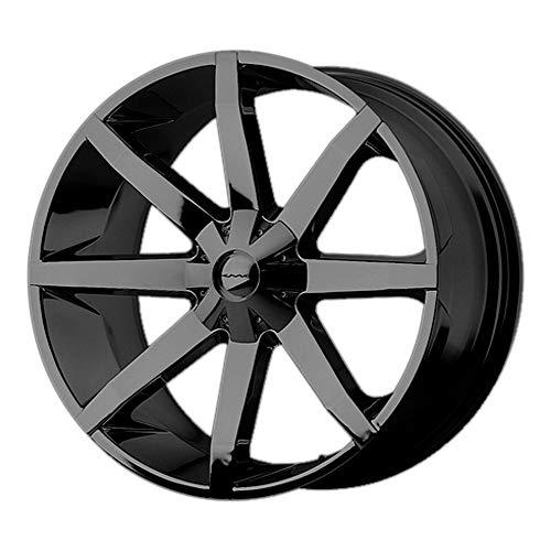"KMC KM651 20x8.5 5x135/5x5.5"" 10mm Gloss Black Wheel Rim 20"" Inch"