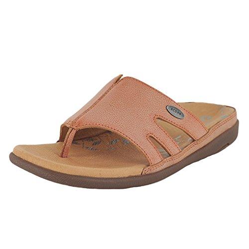 ACORN Women's Prima Cutaway Thong Dress Sandal, Clay, 7 M - Flip Flops Acorn