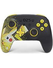 PowerA Enhanced Wireless Controller for Nintendo Switch - Pikachu 025, Nintendo Switch Lite, Gamepad, Game Controller, Bluetooth Controller, Rechargeable, Pikachu - Nintendo Switch