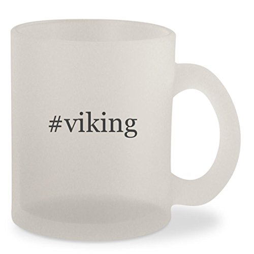 #viking - Hashtag Frosted 10oz Glass Coffee Cup Mug