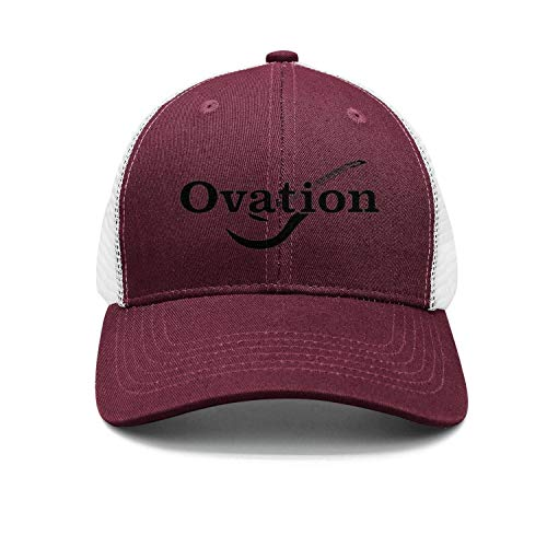 M.STRA Unisex Maroon Snapback Hat for Mens Womens Cool Logo-Ovation-Guitar- Caps]()