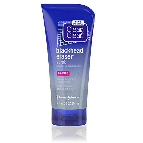 Clean & Clear Blackhead Eraser Facial Scrub with 2% Salicylic Acid Acne Medication, Oil-Free Daily Facial Scrub for Acne-Prone Skin Care, 5 oz