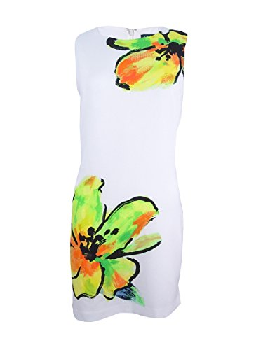 Ralph Lauren Sundress - LAUREN RALPH LAUREN Womens Floral Print Sleeveless Wear to Work Dress White 10