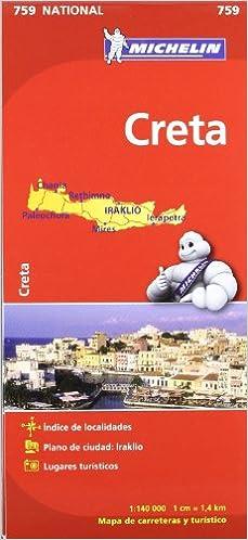Mapa National Creta (Mapas National Michelin)