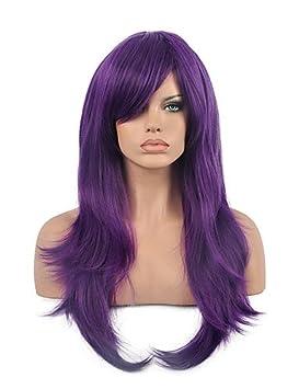 70 cm harajuku animado colorido pelucas cosplay jóvenes peluca sintética del pelo largo y rizado pelucas