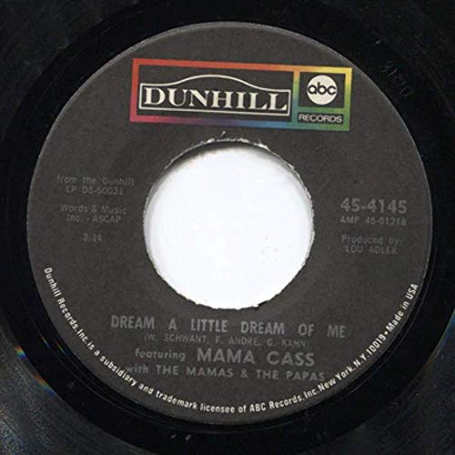 Mama Cass/The Mamas & the Papas: Midnight Voyage/Dream a Little Dream of Me - 45 rpm Vinyl Record (The Mamas & The Papas Midnight Voyage)