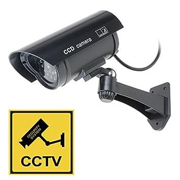 DealMux pistola simulada falsa seguridad de la vigilancia CCTV cámara domo al aire libre de interior