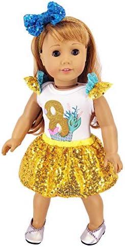 3 American Girl CL BITTY BABY OCEAN BLOSSOM SKIRT SMALL for Little Girl NEW
