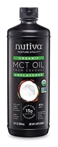 Nutiva Organic MCT Oil with Caprylic and Capric Acids from non-GMO, USDA Certified Organic Fresh Coconuts, 32-Fluid Ounce
