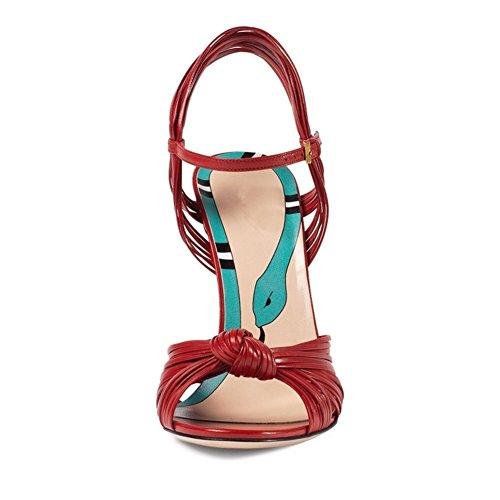 HN Soirée Toe Noir Fête 35 Noces Chaussures Escarpin Peep Talon Forme Taille Shoes Talons Femmes Plate Sandales Rouge 42 Aiguille Cheville Or Haute grfgq