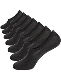 No Show Socks Mens Pack Cotton Thin Non Slip Low Cut Men Invisible Sock 6-12