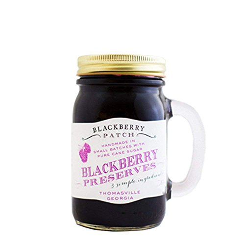 Natural Blackberry (BlackBerry Patch Handled Mug Blackberry Fruit Preserves All Natural Hand Made in Small Batches | Makes a great ice cream topping milkshake flavoring (Blackberry, 18 Fl oz))