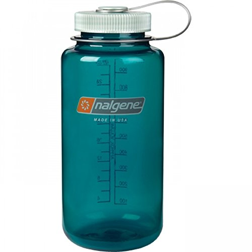 Nalgene Tritan Wide Mouth BPA-Free Water Bottle, 32 Oz, Trout Green