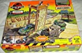 Matchbox Action System - THE LOST WORLD JURASSIC PARK - GARAGE with Mercedes AAV and Site B Trapper / Trailer