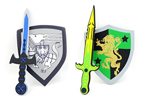 Foam Sword & Shield Play Set for Kids – Set of 2
