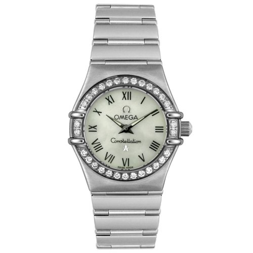 Omega Women's 1466.61.00 Constellation Quartz Mini Diamond Bezel Watch