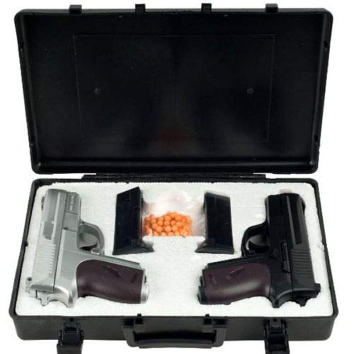 Twin Spring Dual Airsoft Pistol Combo Pack Set Hand Gun w/Case 6mm BB BBS