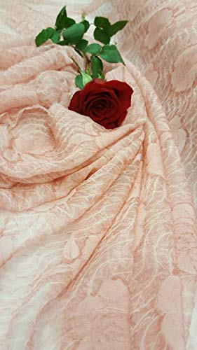 Pink Chiffon Silk Crinkle Sheer Fabric Sold by The Yard Gown Quinceañera Bridal Evening Dress Gorgeous Decoration Draping Table Cloth - Crinkle Silk Chiffon Dress