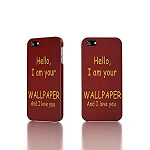 Apple iPhone 4 / 4S Case - The Best 3D Full Wrap iPhone Case - text red background