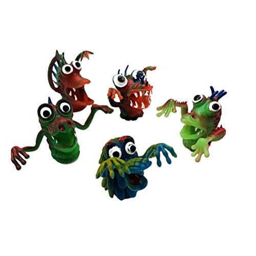 YeahiBaby 5pcs Finger Puppets Halloween Character Finger Toy Funny Toy ()