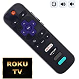 [NEW 2018] TCL Roku TV remote with Power/Volume Control and UPDATED 4 Shortcuts NETFLIX AMAZON SLING HBONOW (RC280 RC282 Standard IR replacement for Roku Smart TV)