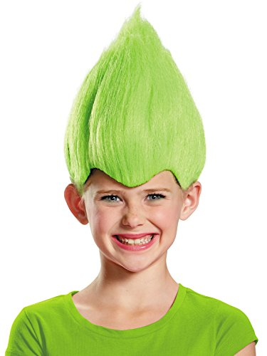 Green Wacky Child Wig, One Size Child -