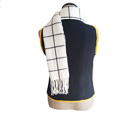 Cosplayhome Fairy Tail Naz Scarves White Plaid Scarf Cosplay