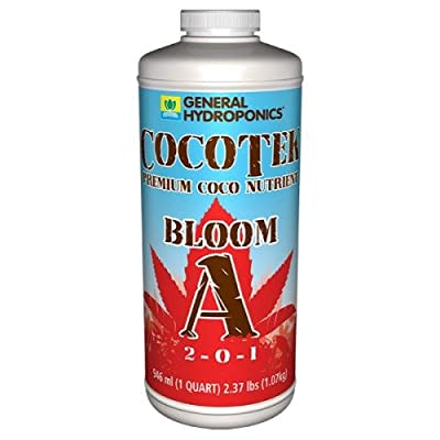 General Hydroponics GH3282 Cocotek Bloom A Qt Hydroponic Base Nutrient, White : Garden & Outdoor