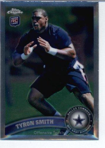 2011 Topps Chrome Football Rookie Card IN SCREWDOWN CASE #TC38 Tyron Smith Mint ()