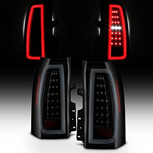 For 2015-2018 Chevy Tahoe/Suburban Full LED Daytime Running Lamp Bar Tail Lights Black Housing Smoked Lens Full Set