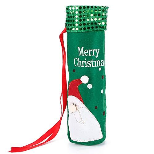 Dinner Knot (Dinner Party Decoration - 1pc Christmas Wine Bottle Bag Dinner Party Decoration Bow Knot Snowman Tree Santa Claus Cover Christ - Tree Dinner Skirt Decoration Ornaments Party Decorations Snowm)