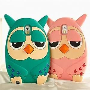YULIN Teléfono Móvil Samsung - Cobertor Posterior - Diseño Especial - para Samsung Galaxy Note 3 ( Azul/Rosado , Silicona ) , Pink