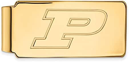 10k Yellow Gold LogoArt Official Licensed Collegiate Purdue University (PU) Money Clip