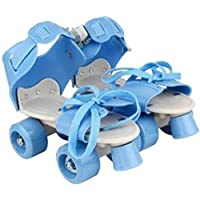 KITMEER Adjustable Inline Skating Roller Skates for Kids (Blue, Age Group 5-12 Years)