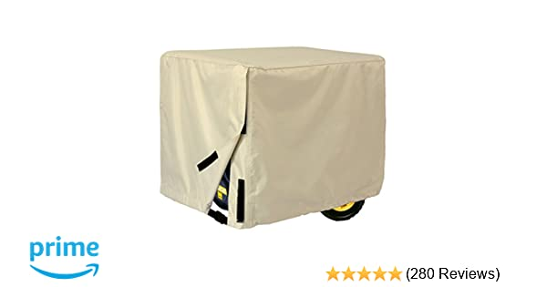 Porch Shield 100% Waterproof Universal Generator Cover 26 x 20 x 20 inch, For Most Generators 3000-5000 Watt, Light Tan