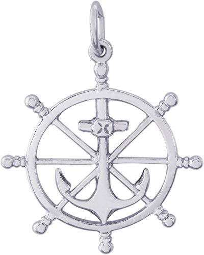 ilver 3-D Ship Wheel Charm (22 x 22 mm) (3d Silver Charms)