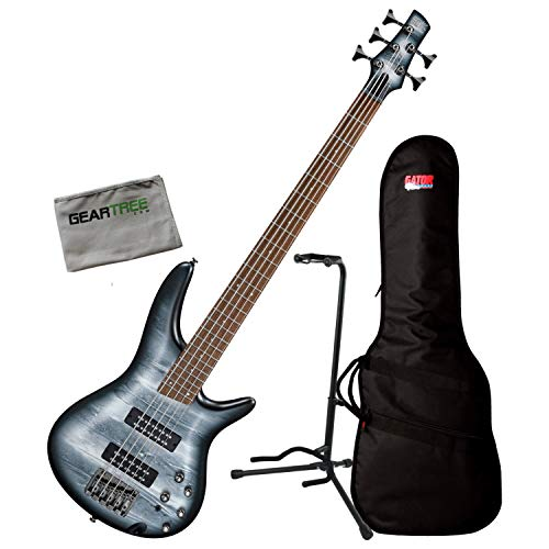 - Ibanez SR305E BPM Black Planet SR Standard 5-String Bass Guitar w/Bag, Stand, an