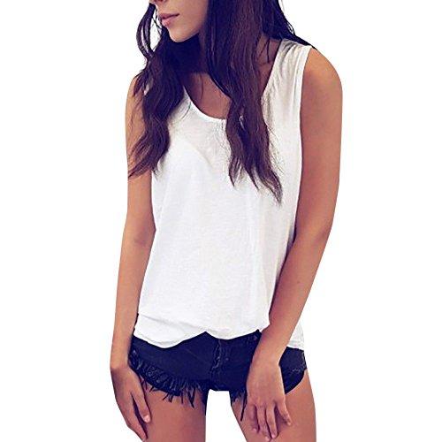 Respctful✿Women's Fashion Summer Sleeveless Halter Crop Top Custom Backless Hollow Out Tank Top White