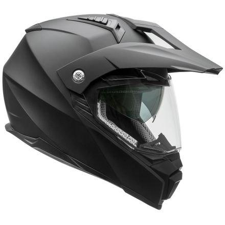Vega Helmets Cross Tour 2 Dual Sport Helmet with Internal Sun Visor – Full Face Motorcycle Helmet for Motocross ATV MX Enduro Quad, 5 Year Warranty (Matte Black, Large) by Vega Helmets (Image #1)
