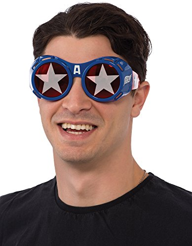 [Rubie's Costume Co Men's Marvel Universe Captain America Goggles, Multi, One Size] (Halloween Goggles)