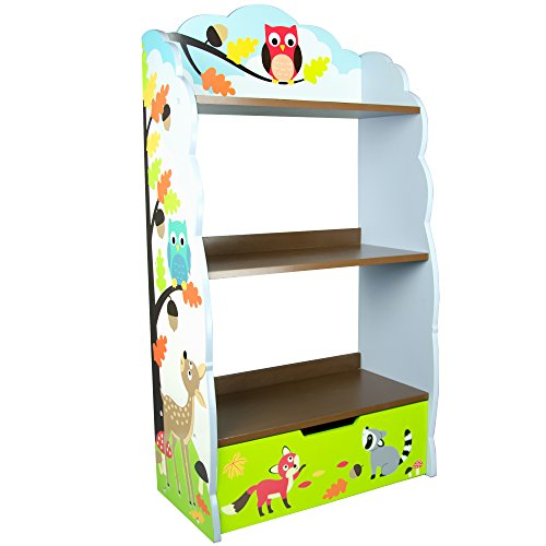 Fantasy Fields - Enchanted Woodland Thematic Kids Wooden Bookcase with Storage | Imagination Inspiring Hand Crafted & Hand Painted Details | Non-Toxic, Lead Free Water-based Paint by Fantasy Fields