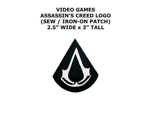 Assassin Creed Costume Diy (Assassin's Creed Video Game DIY Embroidered Sew or Iron-on Applique Patch Outlander Gear)