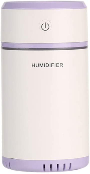 Dicomi Auto USB Mini Humidificador Ultrasónico 200ml, luz de Color, purificador(Violet)
