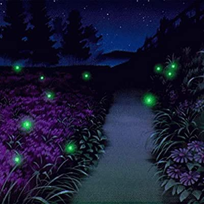 MYHH-LITES Firefly Magic Solar Powered Firefly Lights Flickering Lightning Bug Lights with 7 Magic Fireflies Bulb String, Capturing Your Childhood Memories.