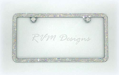 Bling 3 Row License Plate Frame made with Swarovski Crystals - Car Jewelry -  RVMdesigns