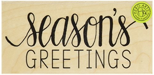Hero Arts Season's Greetings Wood Block Rubber Stamp -